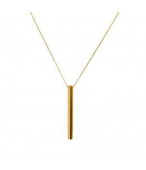 Naszyjnik w kolorze złotym liść z onyksem krawatka