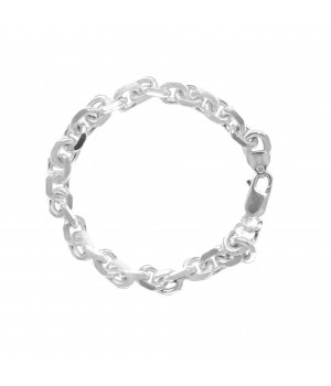 Thick men's silver bracelet