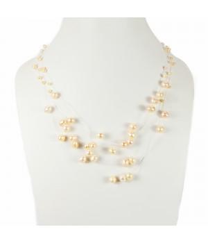 Naszyjnik z perłami na żyłce