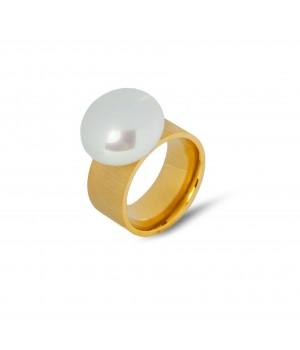 Duży pierścionek z ozdobnym...