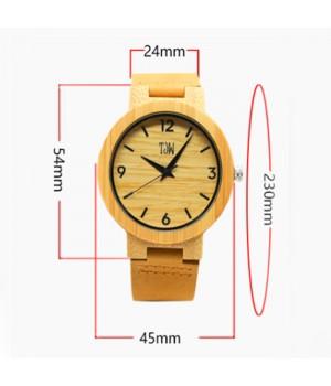 Drewniany zegarek ze...