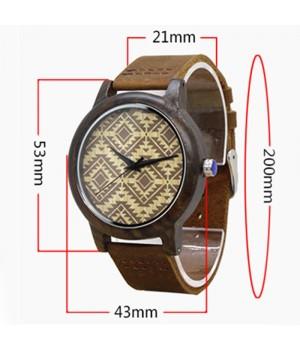 Drewniany zegarek z boho...