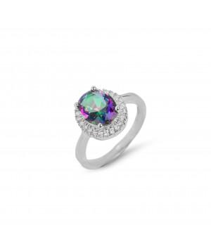 Srebrny pierścionek owalny...