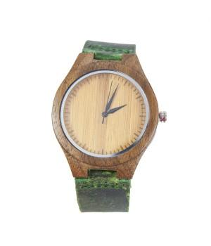 Drewniany zegarek z paskiem...