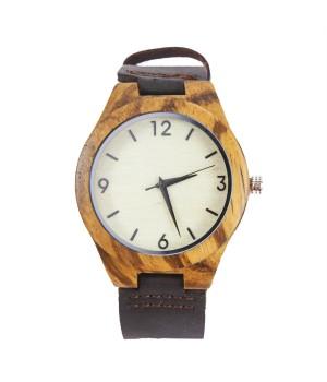 Drewniany zegarek zebra...