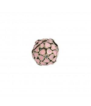 Spots - koralik z różowymi...