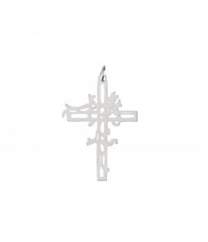 Srebrny krzyż z cierni -...