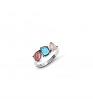 Srebrny pierścionek z 3...