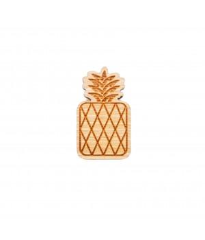 """Drewniana broszka """"Ananas"""""""