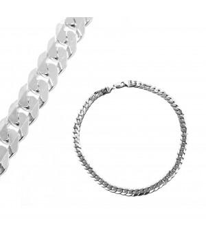 Gruby srebrny łańcuch, 55 cm