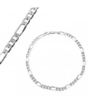 Gruby srebrny łańcuch splot...