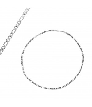 Srebrny łańcuszek splot figaro