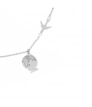 Silver GLOBUS bracelet with...