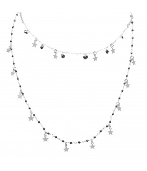 Silver necklace - stars