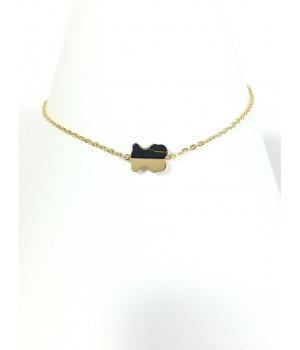 Half Stone Bear Bracelet