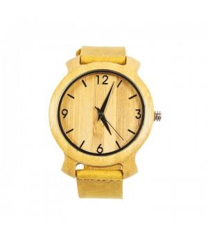 Modny drewniany zegarek ze...