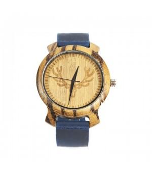 Modny drewniany zegarek...