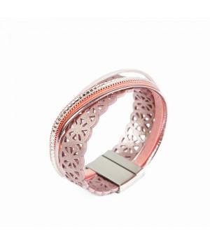 Różowa skórzana bransoletka...